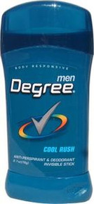 Degree AntiPerspirant & Deodorant Invisible Solid Cool Rush 2.7 Oz