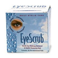 Eye Scrub Sterile Eye Makeup Remover and Eyelid Cleansing Pads 30 ea