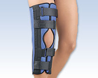 "FLA Breathable Universal Foam Tri-Panel Knee Immobilizer 14"" - 18"""