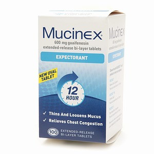 mucinex expectorant guaifenesin extended release 600 mg