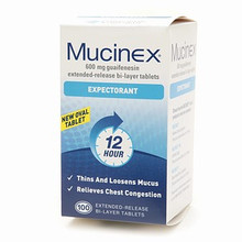Mucinex Expectorant Guaifenesin Extended-Release 600 mg Tablets  100 ea