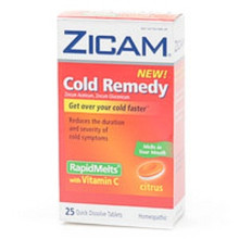 Zicam Cold Remedy Rapid Melts with Vitamin C Citrus Flavor 25ct