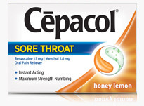 Cepacol Maximum Relief Sore Throat Lozenges, Honey Lemon  16 ea