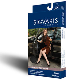 Sigvaris 120N Sheer Fashion 15-20 mmHg Closed Toe Thigh Highs