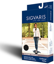 Sigvaris 142C Cushioned Cotton 15-20mmHg Closed Toe Knee Highs