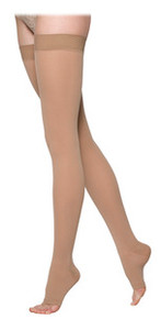 Sigvaris 860 Select Comfort Series 20-30 mmHg Open Toe Unisex Thigh Highs - 862N