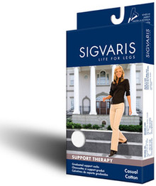 Sigvaris 146C Casual Cotton 15-20mmHg Closed Toe Knee Highs