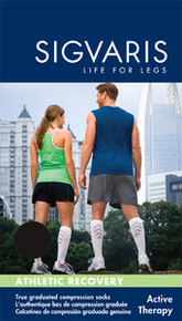 Sigvaris 401 Athletic Recovery 15-20 mmHg Knee High Compression Socks for Men and Women