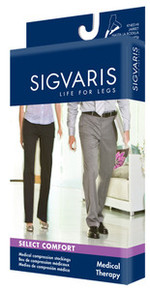 Sigvaris 860 Unisex Select Comfort 30-40 mmHg Open Toe Knee Highs W/SILICONE TOP BAND - 863C