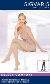 Sigvaris 860 Select Comfort Series 30-40 mmHg Women's Closed Toe Thigh Highs - 863N