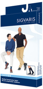 Sigvaris 230 Cotton Series 30-40 mmHg Men's Closed Toe Thigh Highs - 233N