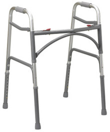 Drive Adult, Wider & Deeper Frame Design Aluminum Folding Walker, Two Button, Bariatric