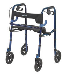 "Drive Adult, Clever-Lite Walker with Seat, Loop Locks and 8"" Casters"