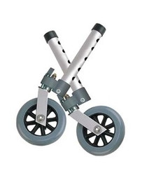 "Drive 5"" Swivel Walker Wheel with Lock and Two Sets of Rear Glides - 1 pr"