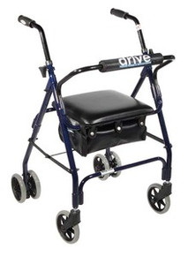 "Drive Winnie, Mimi Lite Aluminum Rollator, Padded Seat, 6"" Casters with Push Lock"