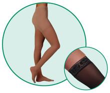 Juzo Hostess 2581 Closed Toe High Elastic Pantyhose 20-30 mmHg