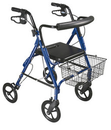 "Drive D-Lite, Aluminum Rollator, 8"" Casters with Loop Locks and Tool Free Removable Wheels"