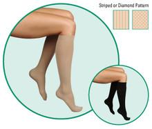 Juzo Soft Pattern 2002 Closed Toe Knee Highs 30-40 mmHg