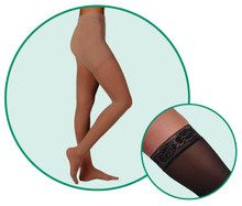 Juzo Hostess 2582 Closed Toe High Elastic Pantyhose 30-40 mmHg