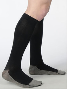Juzo 2002 Soft Ribbed Silver Sole Men's Knee Highs 30-40 mmHg
