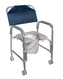 Drive K.D. Aluminum Shower Chair and Commode with Casters, Knock Down