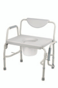 Drive Deluxe Bariatric Drop-Arm Commode, Assembled