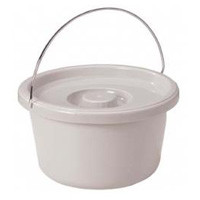 Drive Commode Bucket with Metal Handle and Cover 7.5 Quart