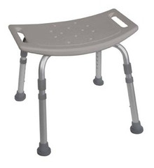 Drive Deluxe, K.D. Aluminum, Bath Bench without Back, Tool Free Assembly