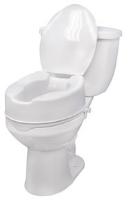 "Drive 6"" Raised Toilet Seat with Lid"