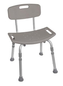 Drive Deluxe, K.D. Aluminum Bath Seat with Tool Free Removable Back