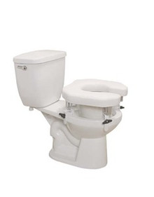 "Drive Open, Padded 5"" Raised Toilet Seat with Four Locking Brackets"
