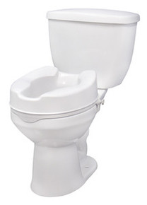 "Drive 4"" Raised Toilet Seat without Lid"
