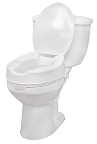 "Drive 4"" Raised Toilet Seat with Lid"