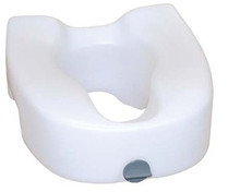 "Drive Premium 4 1/2"" Plastic Elevated, Regular - Elongated Toilet Seat with Lock"