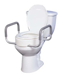"Drive Premium 3 1/2"" Seat Rizer with Removable Arms, Standard Toilets"