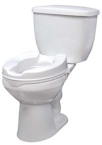 "Drive 2"" Raised Toilet Seat without Lid"