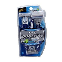 Schick QUATTRO High Performance Disposable Blades - 3 Per Pack