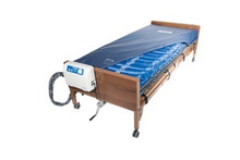 "Drive Med-Aire Plus Alternating Pressure Mattress Replacement System with Low Air Loss 36"" X 80"" X 8"""