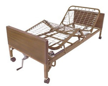 Drive Semi-Electric Bed (Single Crank) with Full Length Side Rails and Mattress DRV15004BV-PKG-2