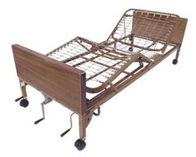 Drive Multi-Height Manual Bed  with Full Length Rails and Mattress
