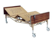 "Drive Full Electric Bariatric Bed with Foam Mattress and Pair of ""T"" Rails"