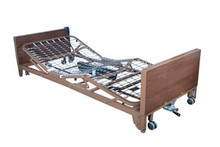 Drive Ultra Light Plus Full-Electric Low Bed with Half Length Side Rails and Therapeutic Mattress