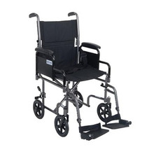 Drive 17'' Steel Transport Chair