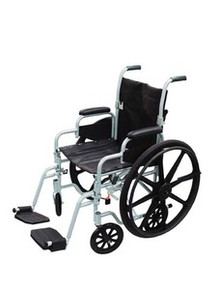 Drive Poly-Fly High Strength, Light Weight Wheelchair/Flyweight Transport Chair Combo