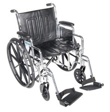 "Drive 18"" Chrome Sport Detachable Desk Arm, Swing-Away Elevating Legrest"