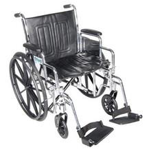 "Drive 18"" Chrome Sport Adjustable Height, Detachable Full Arm, Swing-Away Elevating Legrest"