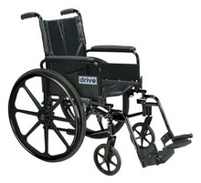 Drive 16'' Cirrus IV - High Strength, Lightweight Dual Axle with Detachable Desk Arms and Elevating Legrests