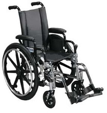 Drive 14'' Viper - Deluxe High Strength, Lightweight, Dual Axle with Desk Arms and Swing Away Footrests