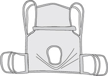 Drive One Piece Commode Sling with Positioning Strap