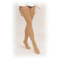 Truform 254: 30-40 Compression TruSheer Thigh High - 1 pair w/ Lace Silicone Top Band